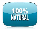 stock photo of 100 percent  - natural icon 100 percent natural sign  - JPG
