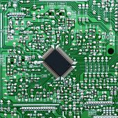Board with electronic chip