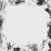 stock photo of smut  - grunge frame or border on grey background - JPG