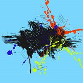 pic of smut  - colored grunge background with stains and blots - JPG