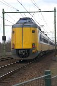 Yellow Dutch Train