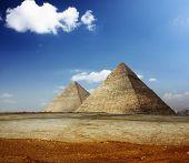 Grate pyramids in Giza valley