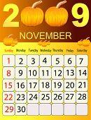 Calendars, New Year 2009, November, pumpkins