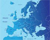 Постер, плакат: Политическая карта Европы