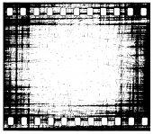 quadro de tira de filme de grunge vector