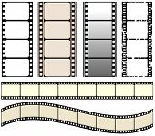 vector seamless film strips set