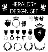 heraldry design vector set