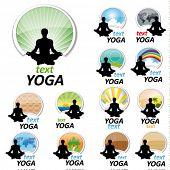 Постер, плакат: задать ОГ йога знаки