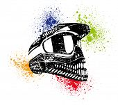 helmet poster - rasterized vector.vector version-in my portfolio