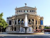 stock photo of frankfurt am main  - Old Opera House in Frankfurt am Main - JPG