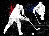 picture of ice hockey goal  - hockey poster - JPG