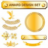 conjunto de design Gold award