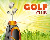 cartaz do clube de golfe