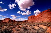 Archec national park blue sky and