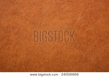 poster of Brown Or Orange Textured Leather Background. Abstract Leather Texture