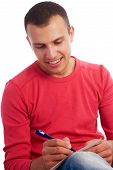 Young Man Writing Letter