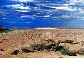 Lake Ballard--(salt pan) in the northern goldfields (desert region) of Western Australian.