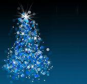 Bokeh brillante ilustración del árbol de Navidad.