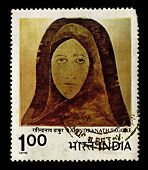 INDIA-CIRCA 1978:A stamp printed in India shows image of Rabindranath Tagore