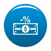 Pay Tax Icon. Simple Illustration Of Pay Tax Vector Icon For Any Design Blue poster