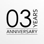 3 Years Anniversary Emblem. Anniversary Icon Or Label. 3 Years Celebration And Congratulation Design poster