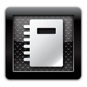 Address book metal icon