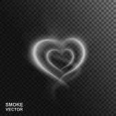 Realistic Smoke Heart  Illustration poster