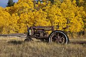 Old Farm Tractor with Fall Colors