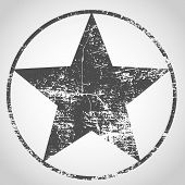 Grunge Star.grunge Texture In Black And White. Textured Background.vector Template. Distress Vector  poster