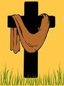 Easter Cross.Eps