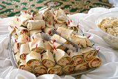 Close Up On Wrap Sandwich In The Platter In Banquet poster