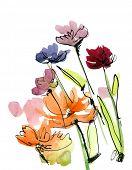 Floral abstrakt.