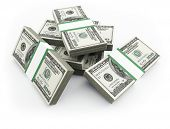 foto of one hundred dollar bill  - 100 dollars bills - JPG