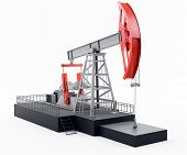 stock photo of crude-oil  - oil pump - JPG