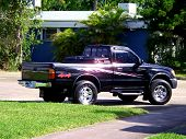 image of workhorses  - Black Pickup Truck a symbol of strength and stamina of a new generation - JPG