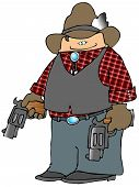 Vaquero con armas