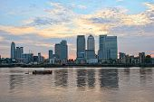 Canary Wharf, Looking Over The River Thames, From The East, London, England, Uk, Europe