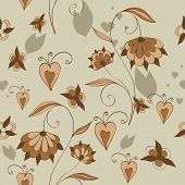 Seamless Background With Decorative Flowers