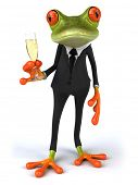 foto of glass frog  - Frog and champagne - JPG