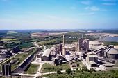 Large Cement Plant. The Production Of Cement On An Industrial Scale In The Factory. poster