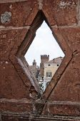 picture of ferrara  - Perspective of Estense Castle - JPG