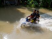 Monsoon Season In Ayuttaya, Thailand 2011