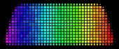 Pixel Colorful Halftone Treasure Brick Icon In Spectrum Color Tinges With Horizontal Gradient On A B poster