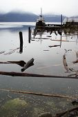 Ruined Dock In An Abandoned Harbor