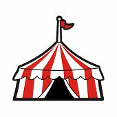 picture of circus tent  - Line drawing illustration of a circus tent - JPG