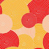 Japanese autumn seamless circle dots kimono pattern