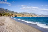 Burriana Beach In Nerja