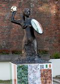 Siren Statue With Football