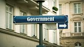 Street Sign The Direction Way To Government poster