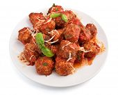 meatballs in tomato sauce on a plate